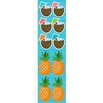 Reminisce - Luau Collection - Chipboard Stickers - Coconut and Pineapple