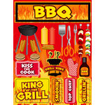 Reminisce - BBQ Collection - 3 Dimensional Die Cut Stickers - Backyard Bash 2