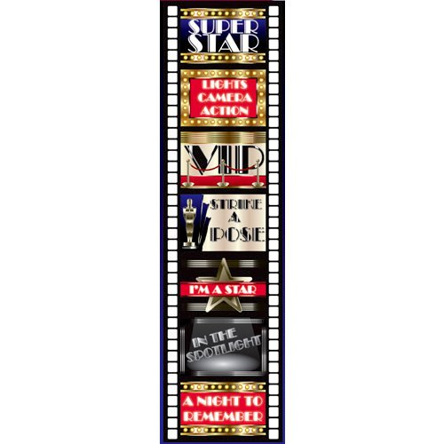 Reminisce - Hollywood Collection - Chipboard Stickers - Signs