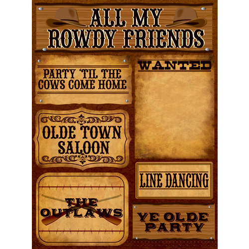 Reminisce - Western Collection - 3 Dimensional Die Cut Stickers - Western 2