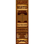 Reminisce - Western Collection - Chipboard Stickers - Signs