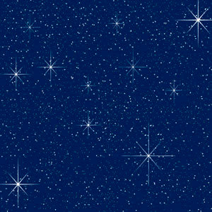 Reminisce - Real Magic Collection - 12 x 12 Glitter Paper - Starry Night