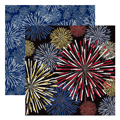 Reminisce - Real Magic Collection - 12 x 12 Double Sided Paper - Fantastical Fireworks