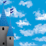 Reminisce - Real Magic Collection - Disney - 12 x 12 Dimensional Paper - Castle in the Clouds
