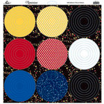 Reminisce - Real Magic Collection - 12 x 12 Glitter Stickers - Nested Circle