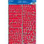 Reminisce - Real Magic Collection - Disney - Die Cut Foil Stickers - Red Alphabet
