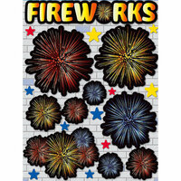 Reminisce - Real Magic Collection - Disney - 3 Dimensional Die Cut Stickers - Fireworks