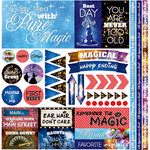 Reminisce - Real Magic Collection - 12 x 12 Cardstock Stickers - Elements