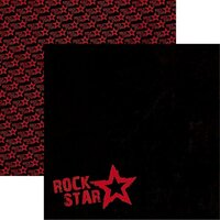 Reminisce - Rockstar Collection - 12 x 12 Double Sided Paper - Rockstar