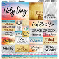 Reminisce - Rites of Passage Collection - 12 x 12 Cardstock Stickers