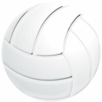 Reminisce - Real Sports Collection - 12 x 12 Textured Die Cut Paper - Volleyball