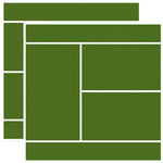 Reminisce - Real Sports Collection - 12 x 12 Double Sided Paper - Tennis Court