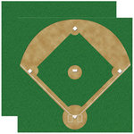 Reminisce - Real Sports Collection - 12 x 12 Double Sided Paper - Baseball Diamond