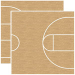 Reminisce - Real Sports Collection - 12 x 12 Double Sided Paper - Basketball Court