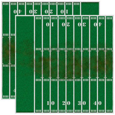 Reminisce - Real Sports Collection - 12 x 12 Double Sided Paper - Football Field