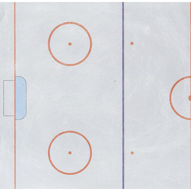 Reminisce - Real Sports Collection - 12 x 12 Double Sided Paper - Hockey Rink