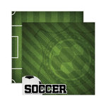 Reminisce - Real Sports Collection - 12 x 12 Double Sided Paper - Soccer
