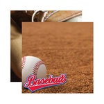Reminisce - Real Sports Collection - 12 x 12 Double Sided Paper - Baseball