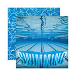 Reminisce - Real Sports Collection - 12 x 12 Double Sided Paper - Swimming