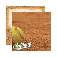 Reminisce - Real Sports Collection - 12 x 12 Double Sided Paper - Softball