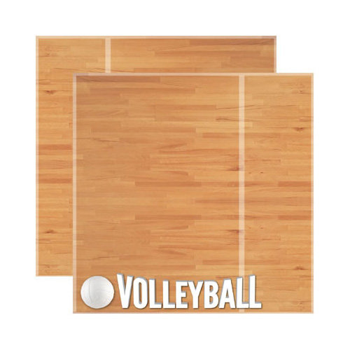 Reminisce - Real Sports Collection - 12 x 12 Double Sided Paper - Volleyball