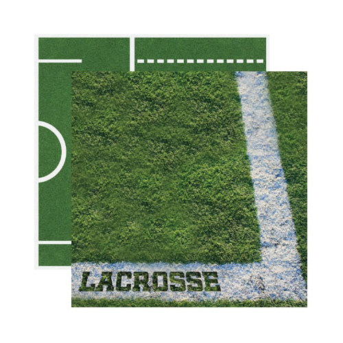 Reminisce - Real Sports Collection - 12 x 12 Double Sided Paper - Lacrosse