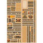 Reminisce - Real Sports Collection - Die Cut Cardstock Stickers - Basketball Quote