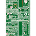 Reminisce - Real Sports Collection - Die Cut Cardstock Stickers - Baseball Quote