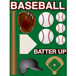 Reminisce - Real Sports Collection - 3 Dimensional Stickers - Baseball
