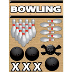 Reminisce - Real Sports Collection - 3 Dimensional Stickers - Bowling