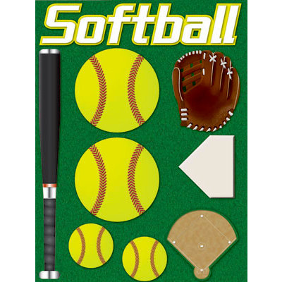 Reminisce - Real Sports Collection - 3 Dimensional Stickers - Softball