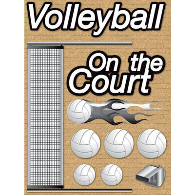 Reminisce - Real Sports Collection - 3 Dimensional Stickers - Volleyball