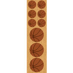Reminisce - Real Sports Collection - Chipboard Stickers - Basketball