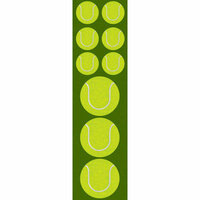 Reminisce - Real Sports Collection - Chipboard Stickers - Tennis