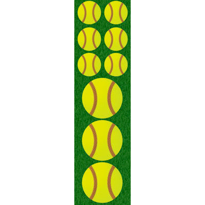 Reminisce - Real Sports Collection - Chipboard Stickers - Softball