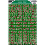 Reminisce - Real Sports Collection - Die Cut Cardstock Stickers - Football Alphabet