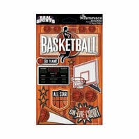 Reminisce - Real Sports Collection - 3 Dimensional Die Cut Stickers - Basketball