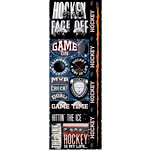 Reminisce - Real Sports Collection - Cardstock Stickers - Combo - Hockey