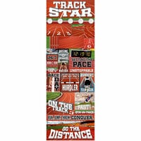 Reminisce - Real Sports Collection - Cardstock Stickers - Graphic - Track