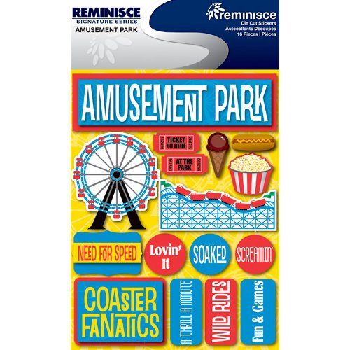 Reminisce Signature Series 3 Dimensional Die Cut Stickers Amusement Park