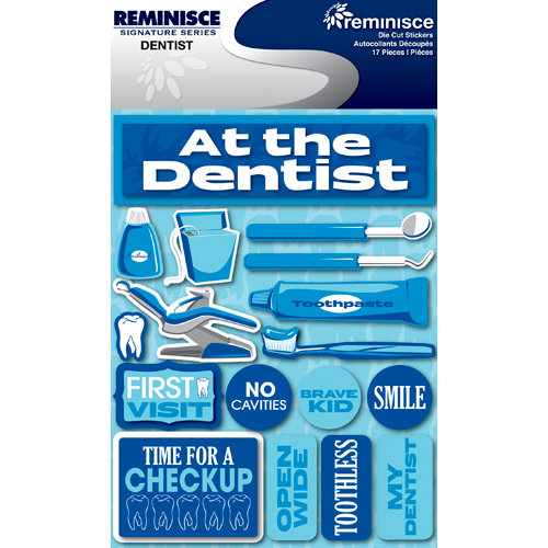 Reminisce Signature Series Collection 3 Dimensional Die Cut Stickers Dentist