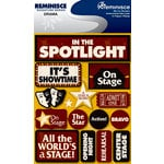 Reminisce - Signature Series Collection - 3 Dimensional Die Cut Stickers - Drama