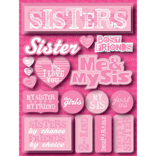 Reminisce - Signature Series Collection - 3 Dimensional Die Cut Stickers - Sisters