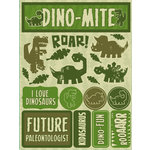 Reminisce - Signature Series Collection - 3 Dimensional Die Cut Stickers - Dinosaurs