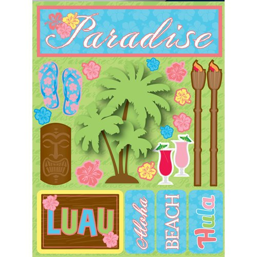 Reminisce - Signature Series Collection - 3 Dimensional Die Cut Stickers - Paradise