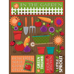Reminisce - Signature Series Collection - 3 Dimensional Die Cut Stickers - Garden