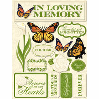 Reminisce - Signature Series Collection - 3 Dimensional Die Cut Stickers - Memories