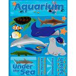 Reminisce - Signature Series Collection - 3 Dimensional Die Cut Stickers - Aquarium