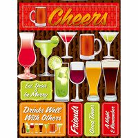 Reminisce - Signature Series Collection - 3 Dimensional Die Cut Stickers - Cheers