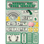 Reminisce - Signature Series Collection - 3 Dimensional Die Cut Stickers - Show Me The Money